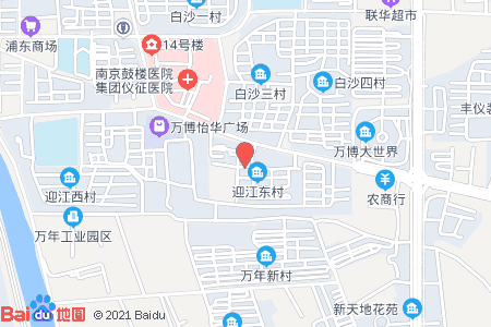 迎江东村地图信息