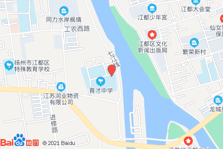 江都育才中学地图信息