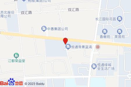 江都帝景蓝湾地图信息