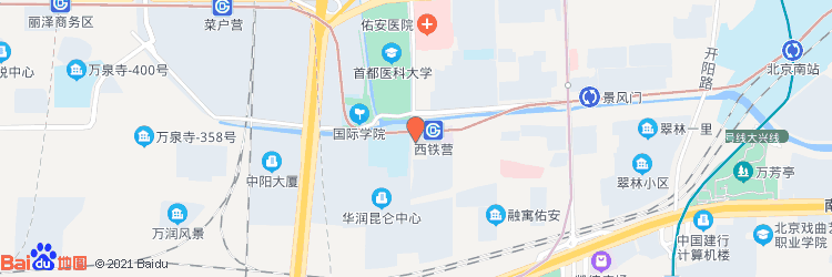 西铁营万达广场易空间地图图标