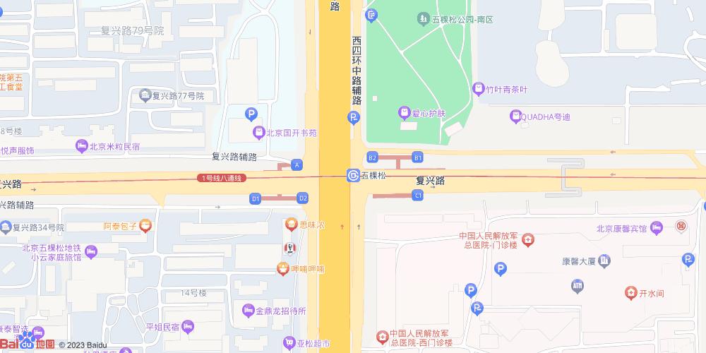 北京五棵松地铁站