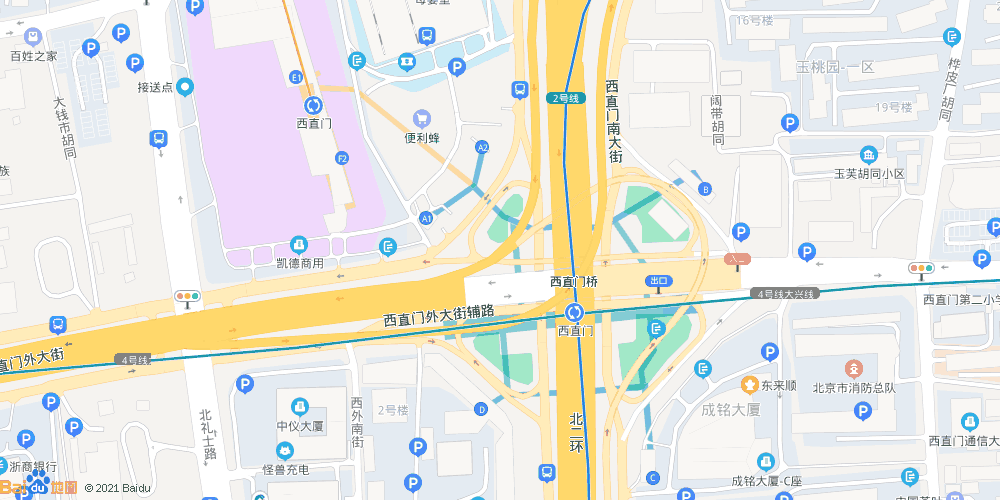 北京西直门地铁站
