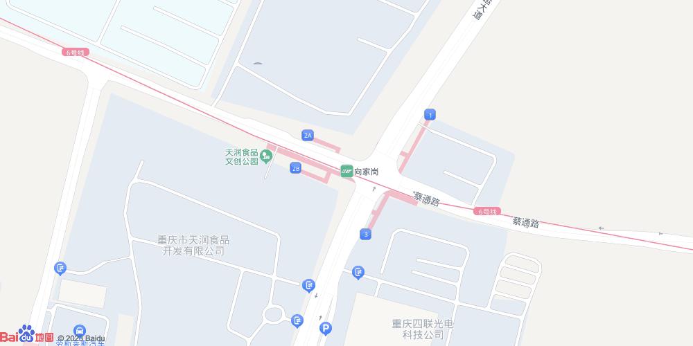 重庆向家岗地铁站