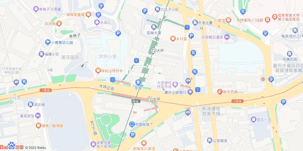 重庆大坪地铁站