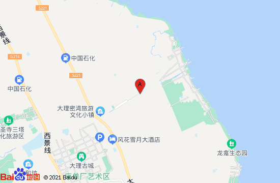 大理水花地图
