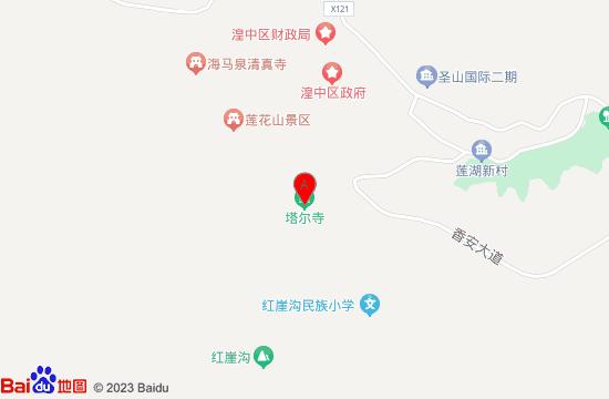 西宁塔尔寺地图