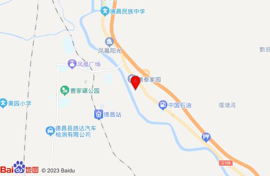 德昌元坤温泉地图