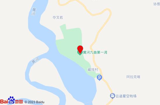 若尔盖九曲黄河第一湾地图