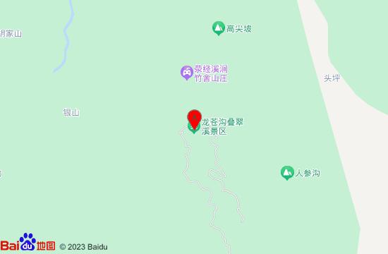 雅安龙苍沟叠翠溪景区地图