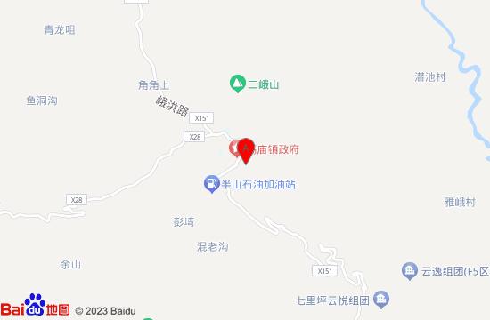 眉山七里坪漂流地图