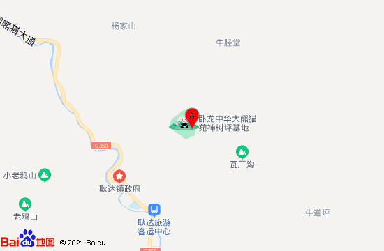 卧龙中华大熊猫苑地图