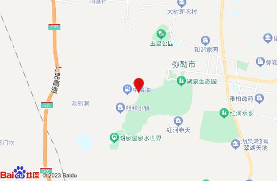 弥勒九龙温泉地图