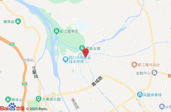 都江堰大江户温泉馆地图