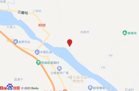 犍为花果溪地图