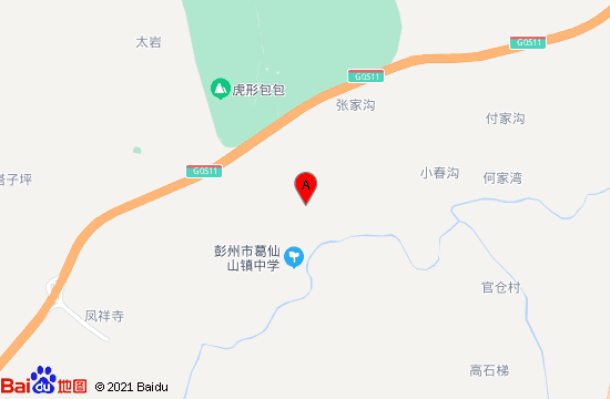 彭州仙山花谷地图