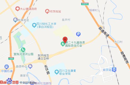 自贡国际恐龙灯会地图