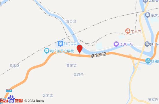 剑门关国际温泉地图