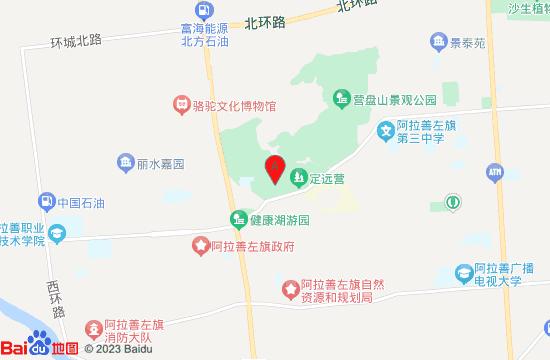 阿拉善左旗延福寺地图