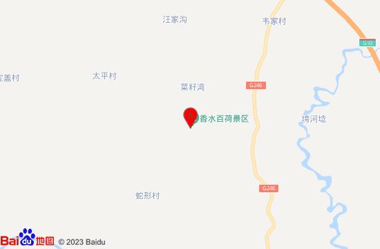 重庆香水百荷景区地图