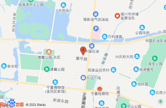 银川曼悦海温泉地图