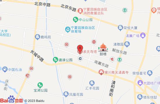 银川承天寺塔院景区地图