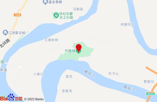 重庆合川钓鱼城地图