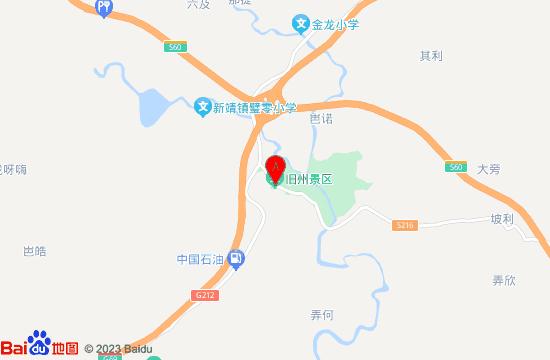 广西靖西旧州老街地图