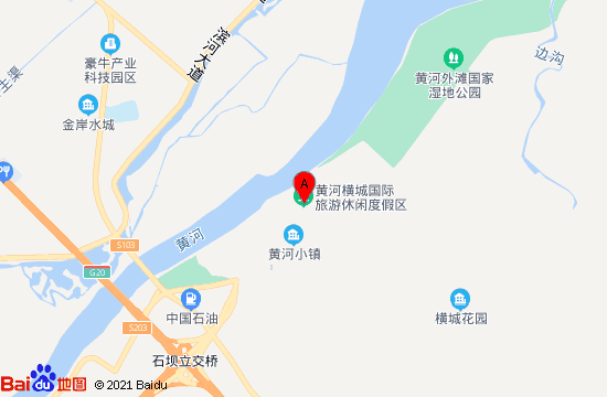 黄河外滩长河栈道地图