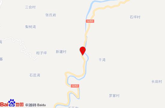 重慶古劍山大峽谷漂流地圖