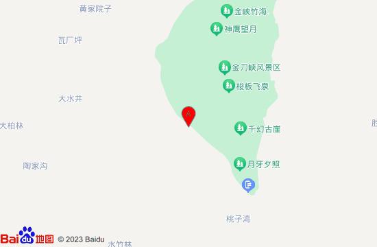 北碚天眼洞花岭景区地图