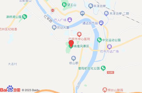 巴中南龛石窟景区地图