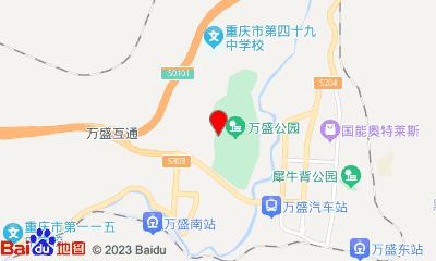 九州国际影城万盛店周边地图