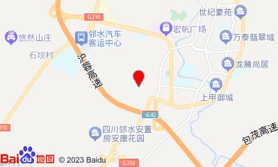 嘉裕国际影城邻水店周边地图