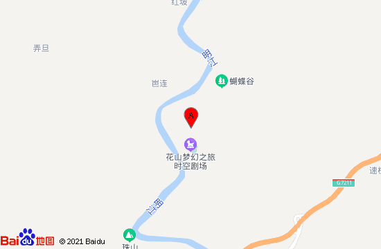 宁明花山实景演出地图