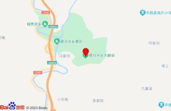 驷马水乡大峡谷地图