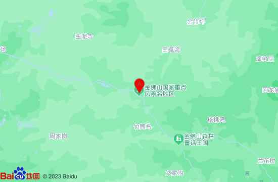 南川金佛山飞拉达地图