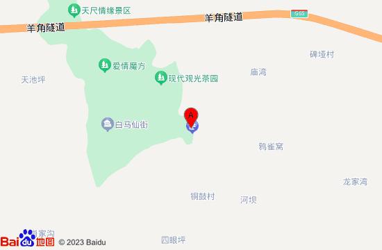 武隆白马山天尺情缘景区地图