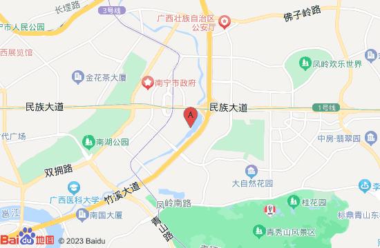 南宁民歌湖夜游地图