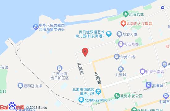 北海贝雕博物馆地图