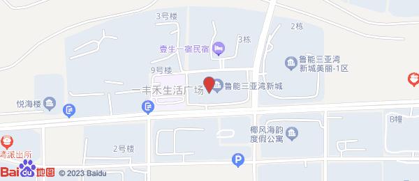 鲁能三亚湾小区地图