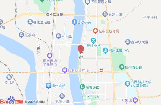 柳州百里柳江风景区地图