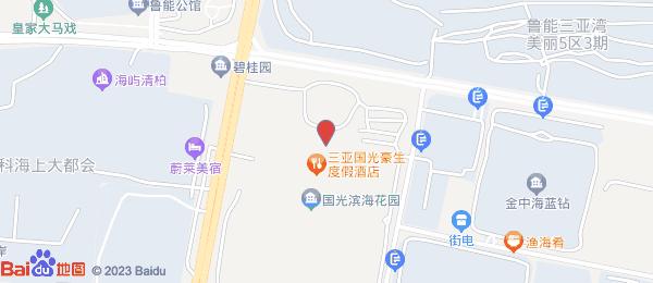 国光豪生度假酒店小区地图