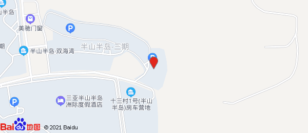 三亚半山半岛小区地图