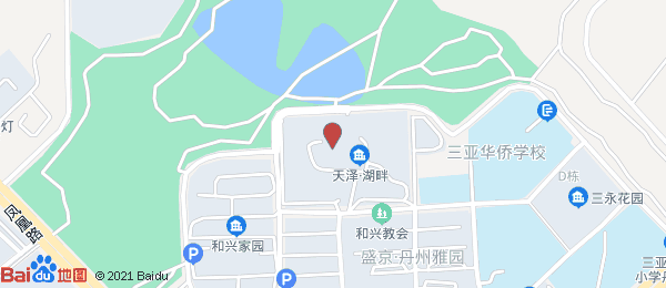 天泽湖畔小区地图