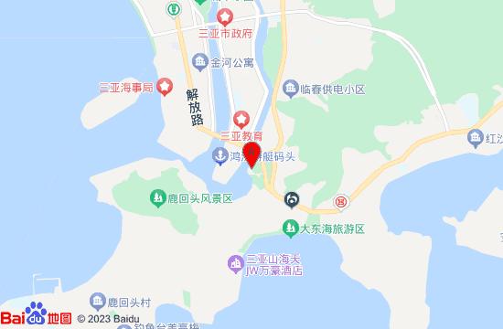 三亚夜游三亚湾地图