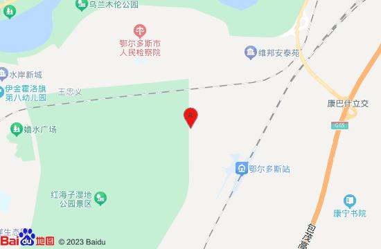 伊金霍洛旗红海子湿地地图