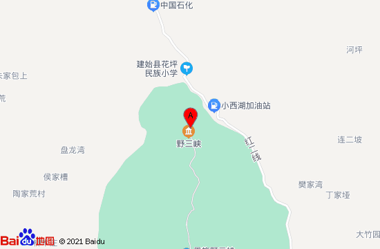 恩施黄鹤峰林景区地图