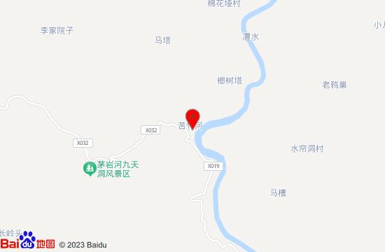 桑植苦竹古寨地图
