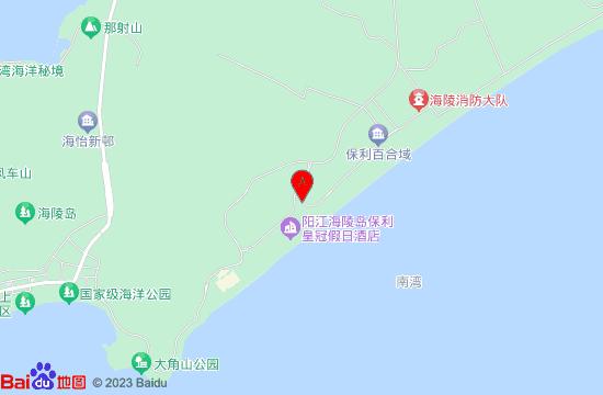 阳江海陵岛保利银滩地图
