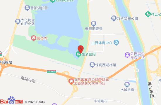晋阳湖水秀表演地图